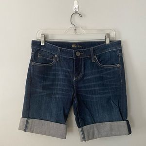KUT from cloth Denim Jean Roll Up Shorts Size 4